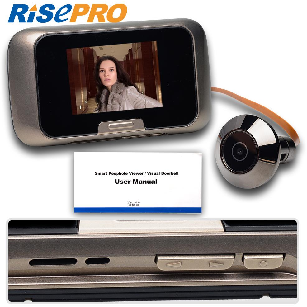 """Risepro 2.8"""" Camera Door EQUES Photo Video 0.3MP Color SD Card Digital Peephole Viewer(China (Mainland))"""