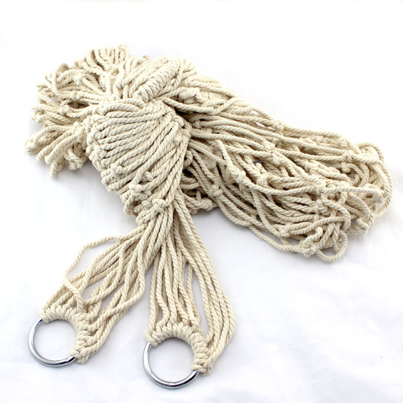 Indoor and outdoor mesh cotton rope hammock with bold tying send money bag(China (Mainland))