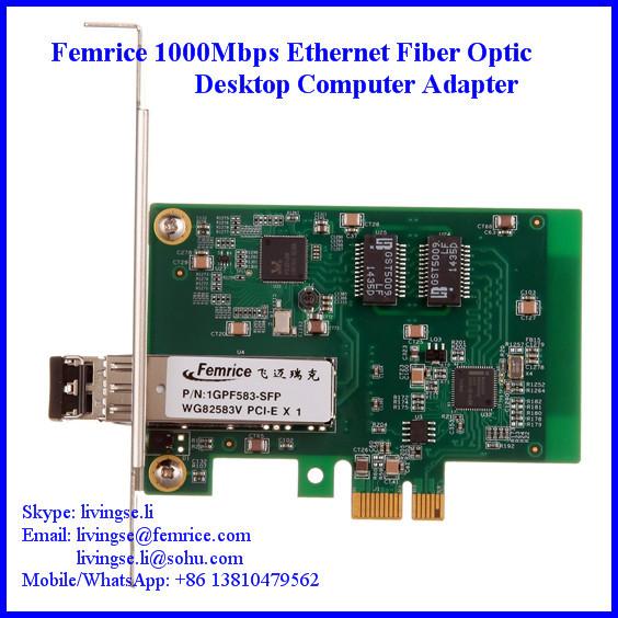 1000Mbps Desktop Computer Application Ethernet Gigabit NIC 1 Port Network Interface Adapter (4 pieces) - Femrice (China store Technology Co., Ltd)