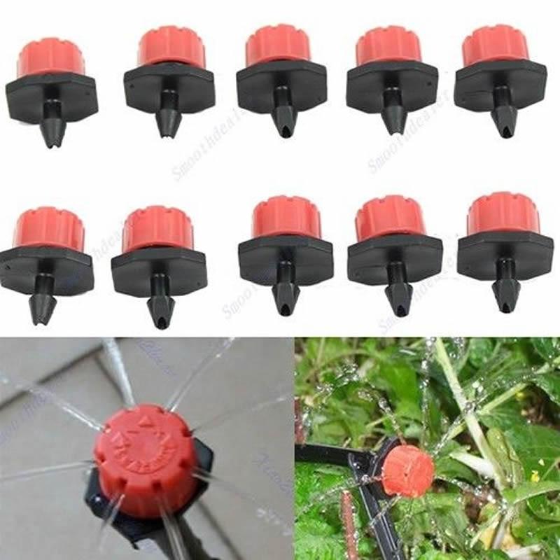 50pcs Garden Irrigation Micro-sprinklers Misting Micro Flow Dripper Drip Head 1/4'' Hose(China (Mainland))