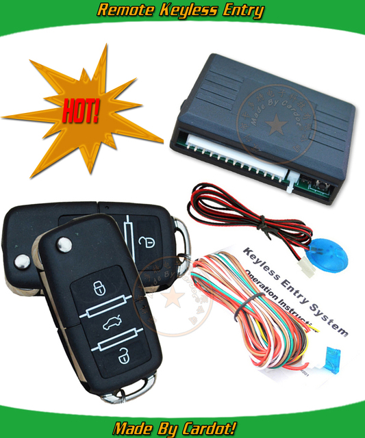 promotional keyless entry system, lock or unlock,remote central lock,trunk release,learning code,window up output,CE passed