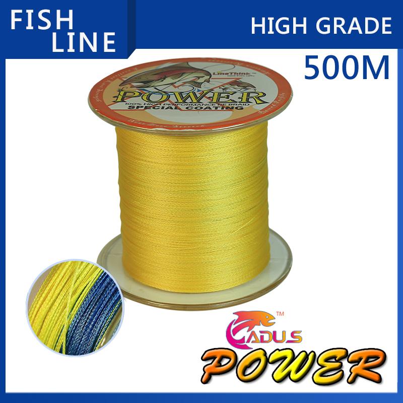 Гаджет  500M Power Brand Super Strong Japanese 500m Multifilament PE Material Braided Fishing Line 10 20 25 30 40 50 60 80 100LB None Спорт и развлечения