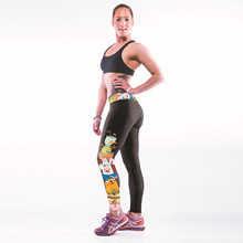 and the United States new winter sky digital printing exercise super elastic thin Yoga Leggings underneath the female