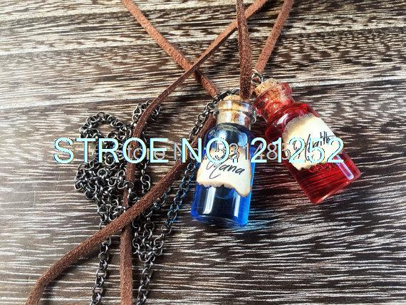 12pcs/lot Mana & Health Potion Necklaces RPG/Video Game Inspired Necklaces(China (Mainland))