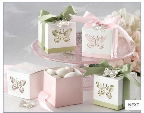 Laser butterfly Wedding favors Packaging boxes wedding gift box candy bags 100pcs/lot(China (Mainland))
