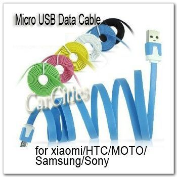 Free shipping CN 3pcs/lot Micro 5Pin Noodles Flat Sync USB Data Cable For Samsung S3 S2 HTC One S Blackberry Nokia Sony LG