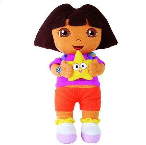 1pcs Dora the Explorer with Star - Extra Large Plush Doll Baby Toy Kawaii Free Shipping AK013(China (Mainland))