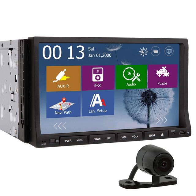 2 din car dvd player windows ce 7 inch car radio gps. Black Bedroom Furniture Sets. Home Design Ideas