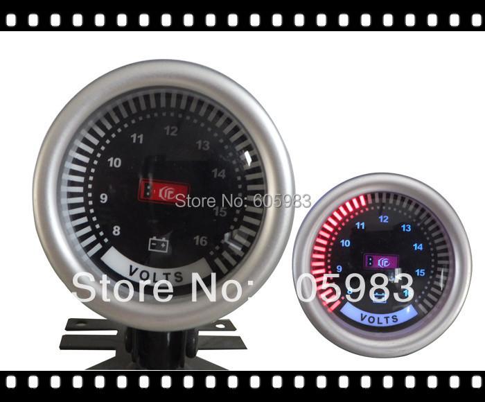 Free shipping 2inch VOLTAGE METER FOR CAR 52mm Digital plasma car meter volts gauge LED9901