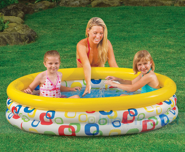 Intex inflatable pool baby swimming pool child fishing toy for Piscinas toy