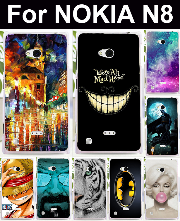 Fashion Patterns New Stylish High quality DIY mobile phone protective case hard Back cover Skin Shell for NOKIA N8(China (Mainland))