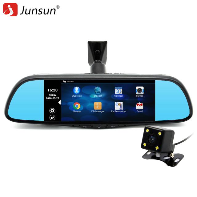 Junsun 7 дюймов Специальный Автомобиль GPS Навигации Зеркало Bluetooth Android 16 ГБ Автомобильный ВИДЕОРЕГИСТРАТОР Зеркало Заднего Вида Монитор автомобильные навигаторы