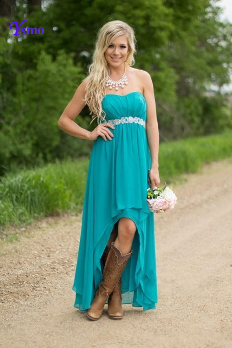 High Low Dresses with Cowboy Boots | Dress images