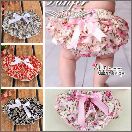 Floral Baby Shorts,Baby Bow Bloomers,Baby Girl Pants,Newborn Diaper Cover,Cute Toddler Underwear,Bermudas,#P0001(China (Mainland))