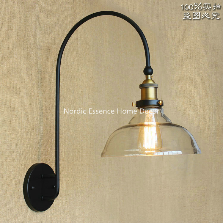 Nordic American RH minimalist high-grade large curved long arm living room front wall aisle stairs decorative lighting wall lamp<br><br>Aliexpress