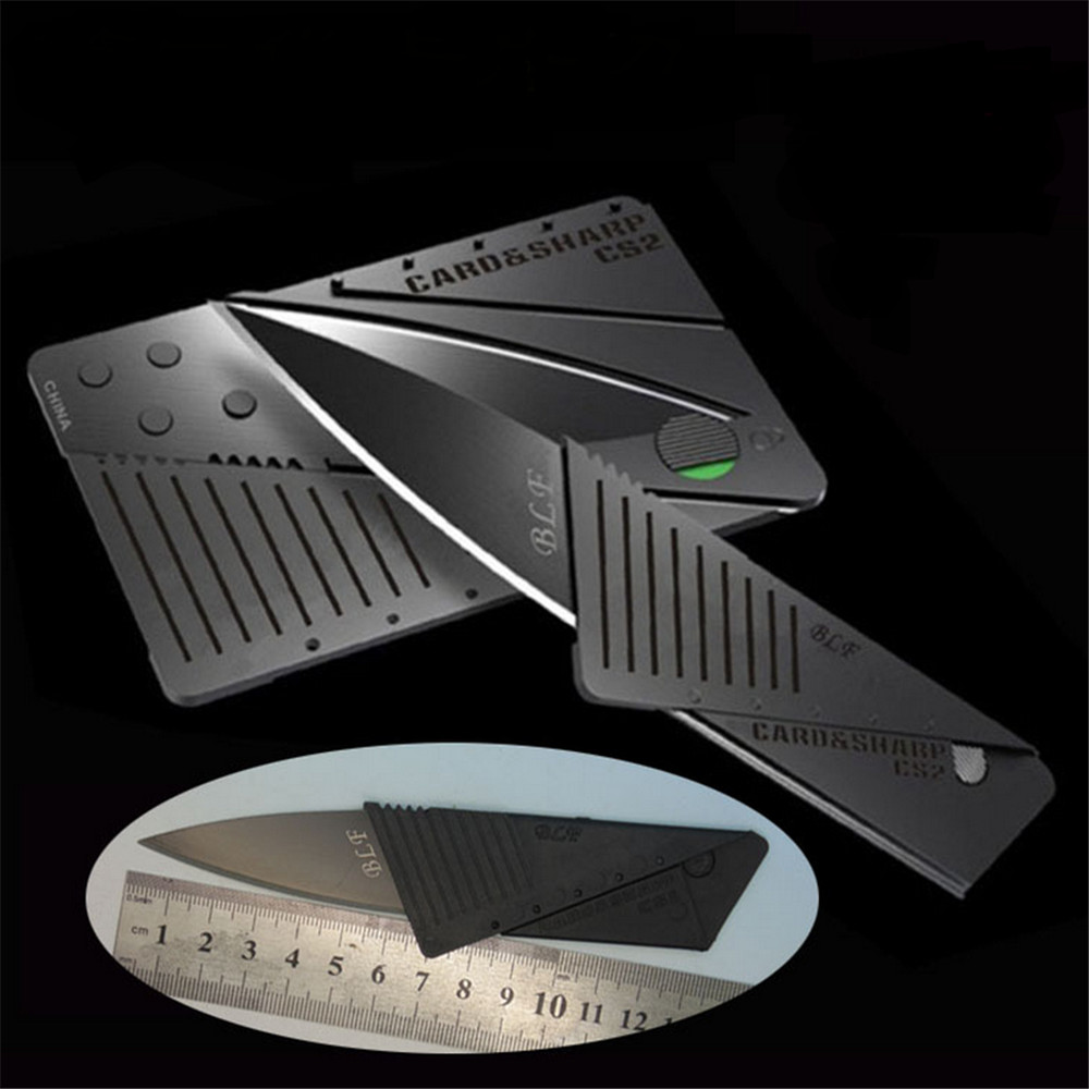 2017Newcredit card knife folding knife Survival tool for outdoor camping Carrying credit card(China (Mainland))