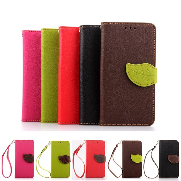 i5 2015 New Fashion Stitching Stand Leaf Magnetic Clasp PU Leather Cases Hand Strap TPU Back Cover For iPhone 5 Hot Sales(China (Mainland))