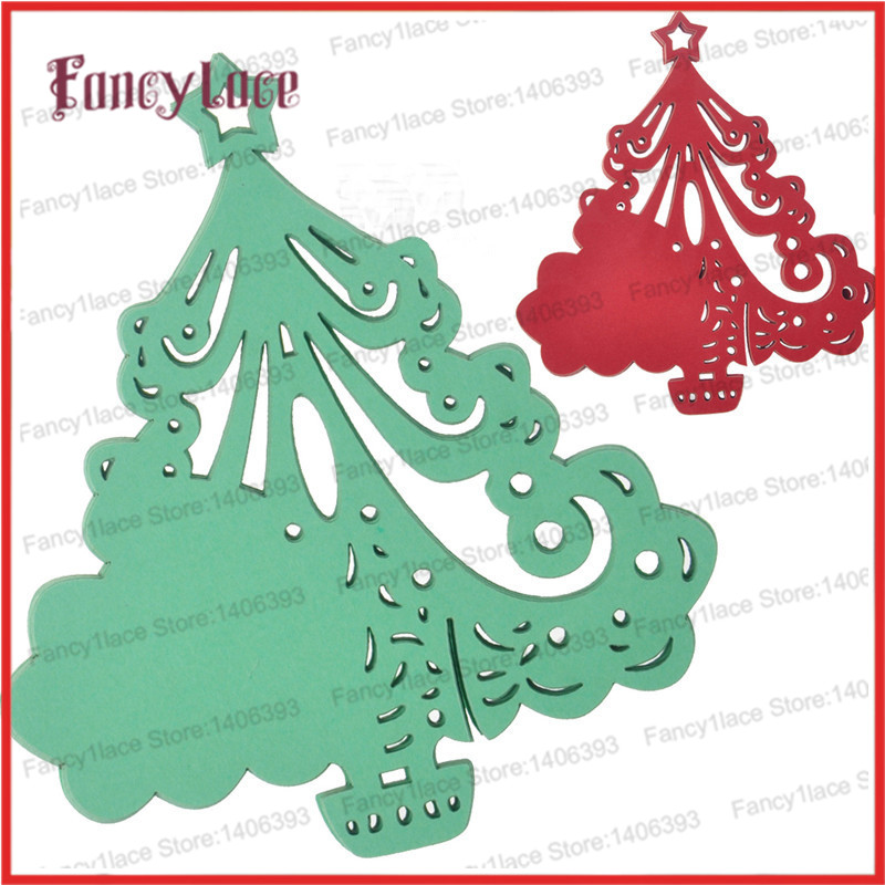 Free Shipping 60pcs Chrismas Tree Table Mark Wine Glass Card Butterfly Name Place Cards Laser cut Pearl Paper Card Party Favor(China (Mainland))