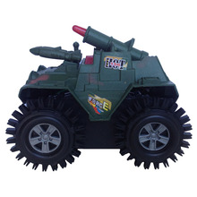 Military tank with missile cannon Artillery flashing light overturn kid's toy gift baby toy educational war creative boy's toy(China (Mainland))