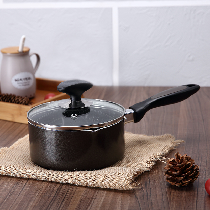Non-stick cookware 16cm Small capacity light portable Uniform thermal conductivity frying pan ceramic induction(China (Mainland))