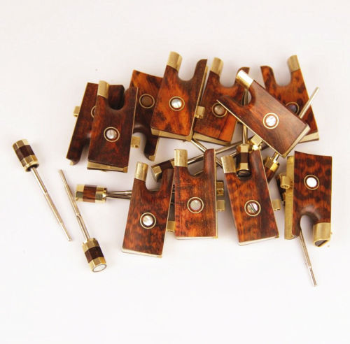 10 Sets Top New 4/4 Violin Snake Wood Frogs Copper Parts Qith Screw Accessories<br><br>Aliexpress