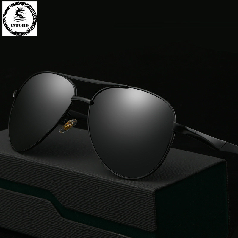 TYRONE 2016 hot sale Men High Quality Polarized Brand Driving Sunglasses sun glasses UV 400 Fashion Eye Wear with Box FREE SHIP(China (Mainland))