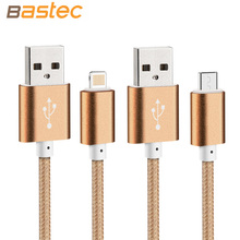 2016 Newest Colorful Nylon Line and Metal Plug Micro USB Cable for iPhone 6 6s Plus 5s iPadmini / Samsung / Sony / Xiaomi / HTC(China (Mainland))