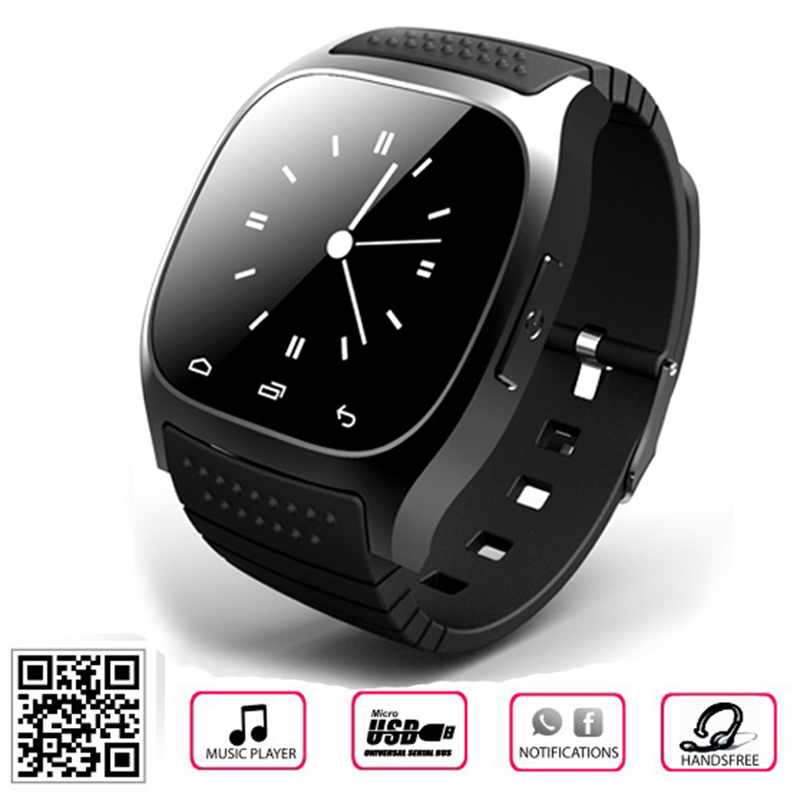 Original 100 Bluetooth Smart Watch M26 BT notification Anti Lost WristWatch for SamsungNote 2 3 Android