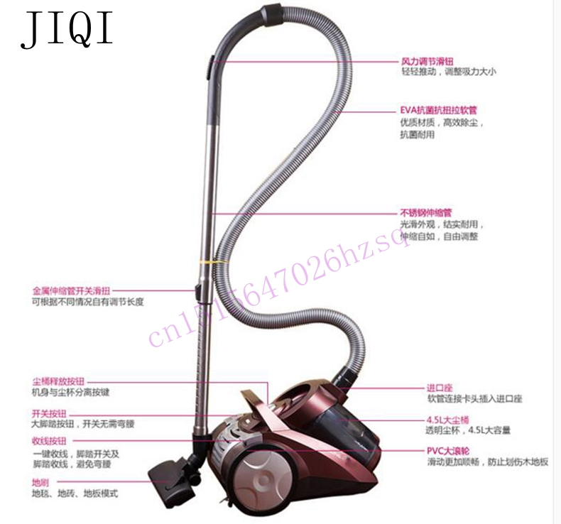 Vacuum cleaner Strong large power vacuum cleaner household silent no consumption Mini 4.5L 1600w(China (Mainland))