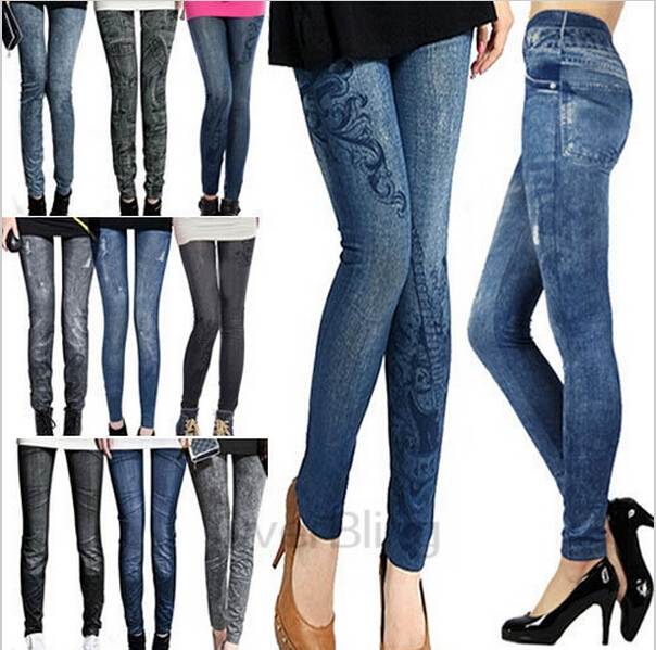 S XL New 2015 Women s Pants Fashion Pants For Women Plus Size Jeans Hole Pleated
