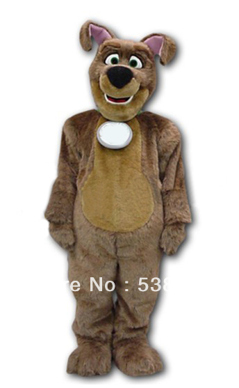 Public Service Advertising Recycle Dog Mascot Costume Adult Brown Plush Dog Costume Stage Props Outfit Suit Cosply Costume SW457(China (Mainland))