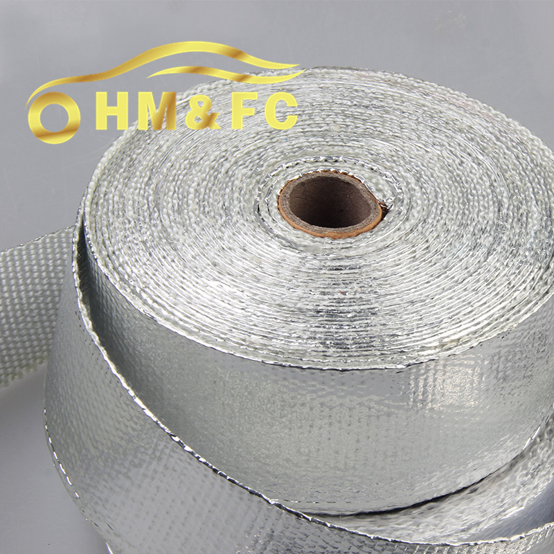 HM&FC- 2''x50' ALUMINIZED Thermal Wrap,exhaust insulating warp,header warp ,exhaust pipe warp with high quality + 8 zip ties(China (Mainland))