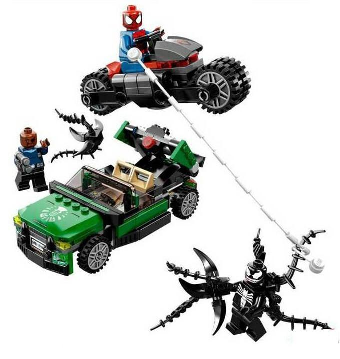 2015 Decool Super Heroes Figures Ultimate SpiderMan Minifigures Building Blocks Sets Bricks Compatible with Lego marvel toys