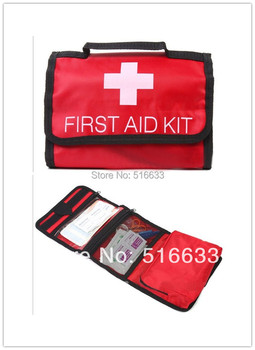 emergency First aid kit bag for home/family/accident/earthquake/car first aid bag free shipping FDA,CE&ISO13485 approved