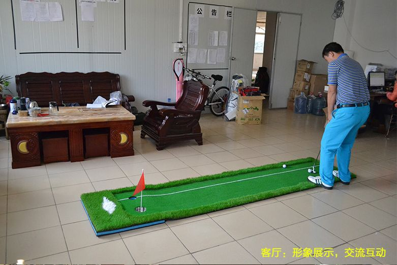 brand PGM. Indoor Golf Putter, Trainer Practice Set, Putting Training Mat, green carpet, easy fold and carried(China (Mainland))