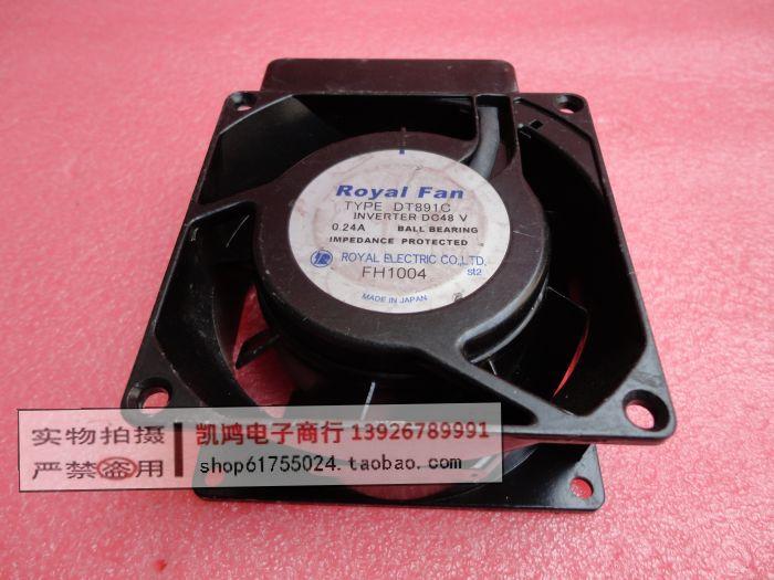 FANS HOME Royal fan type dt891c 48v 0.24a 8038 8cm full metal high temperature fan