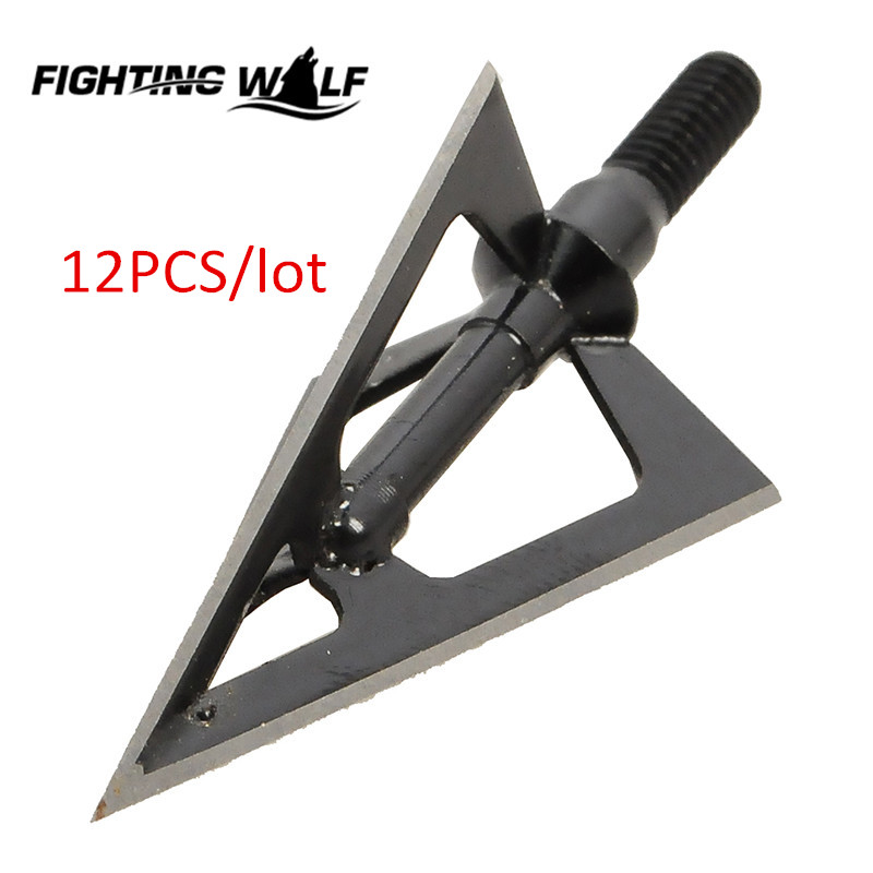 12PCS Laser Welded 3 blades Fixed Blade Ultra Sharp Hunting Arrow Head Broadheads 1oo Grains Hunting
