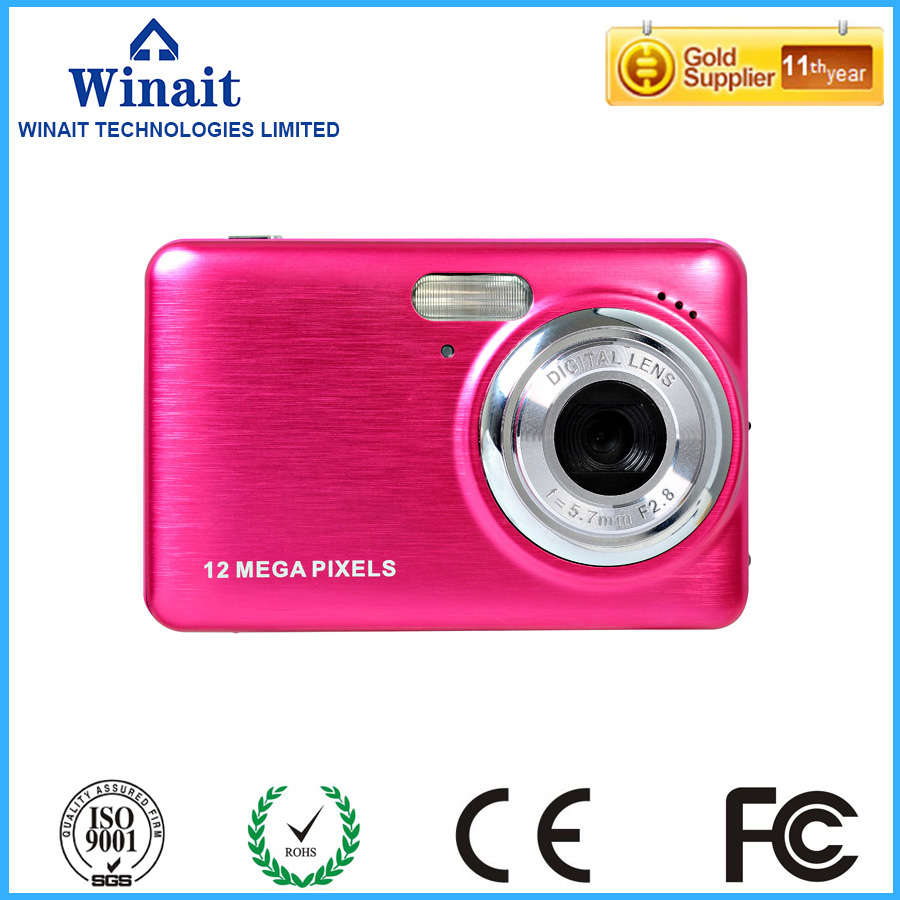HD 12MP cheap digital camera with 2.7'' TFT display, build in rechargeable lithium battery with 4GB sd card free shipping(China (Mainland))