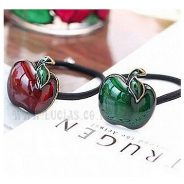 $1 Mini order)Korean cute retro apple flower hair accessories hair drip ring wholesale new hair Sheng Sheng Free Shipping CJWD64(China (Mainland))
