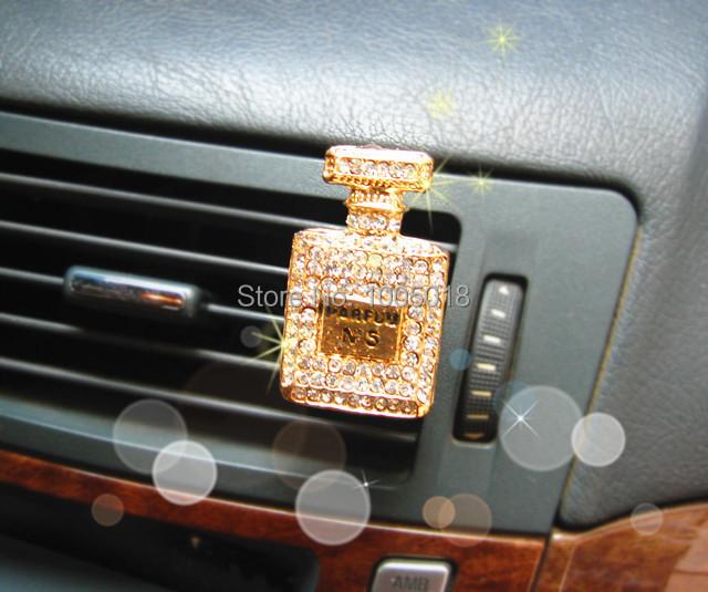 Luxury diamond perfumes 100 original car outlet perfume interior car styling ornaments brand women car air freshener balm(China (Mainland))