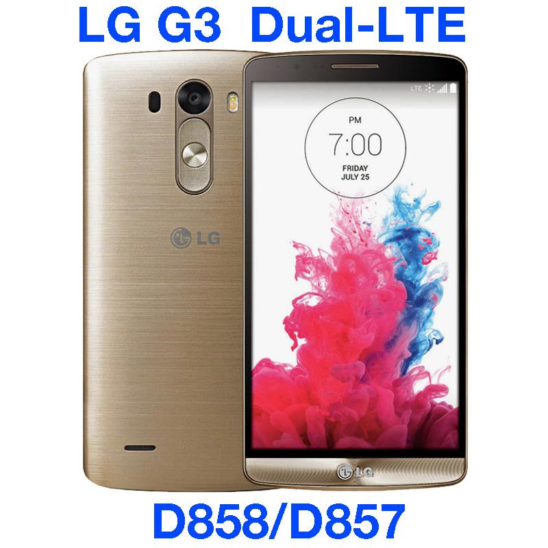 "LG G3 Dual LTE D857 32GB Original Unlocked GSM 3G&4G Android Dual sim Quad-core RAM 3GB 5.5"" 13MP WIFI GPS D858 Mobile Phone(China (Mainland))"