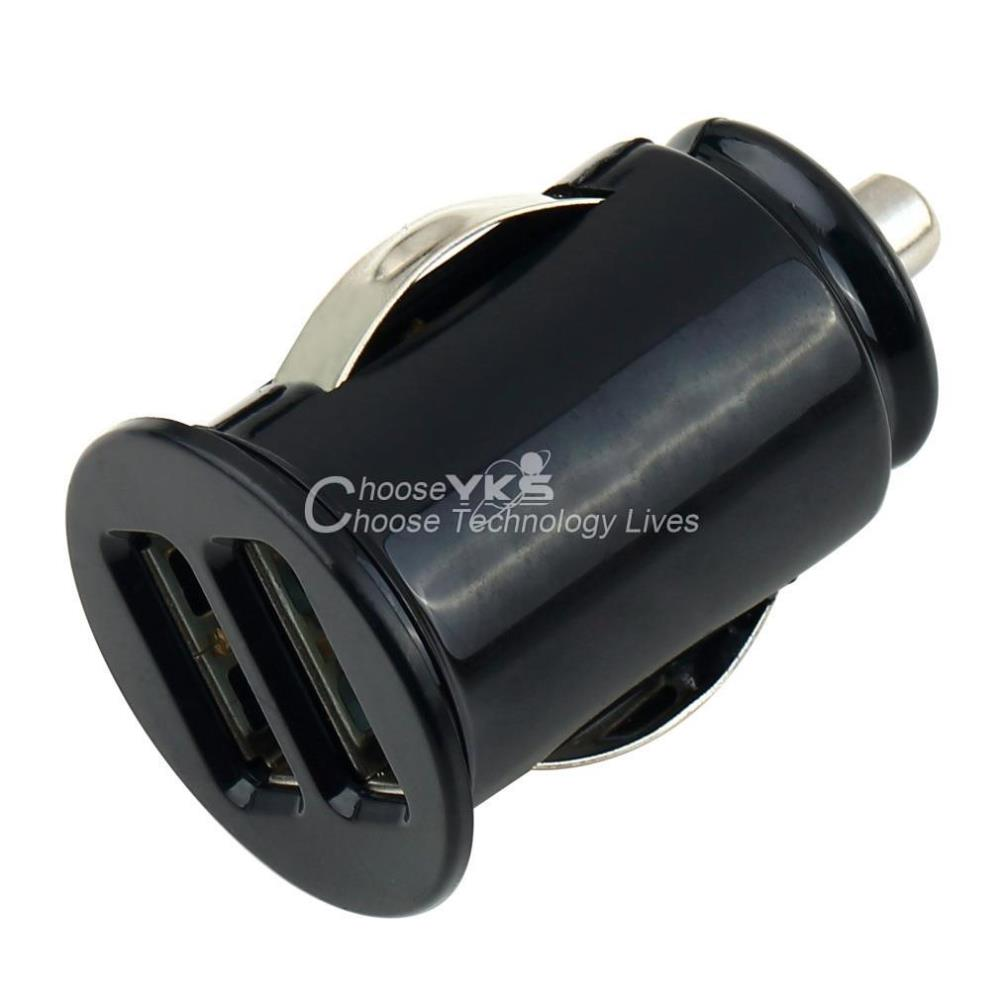 New Car Cigarette Powered Dual 2 Port USB Car Charger Adaptor for iPad for iPhone 4 4S YKS(China (Mainland))