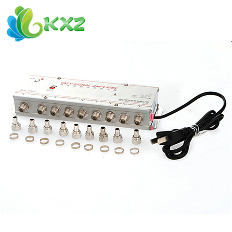 8 PORT Cable TV Digital Signal Amplifier Splitter Booster(China (Mainland))