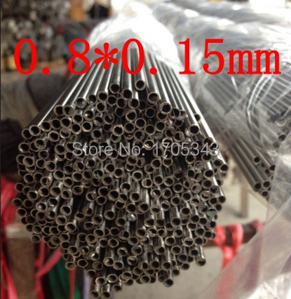 OD0.8*ID0.5 authentic quality 304 321 316 0.8*0.15mm bright welded seamless bore precision caliber small capillary tube pipe(China (Mainland))