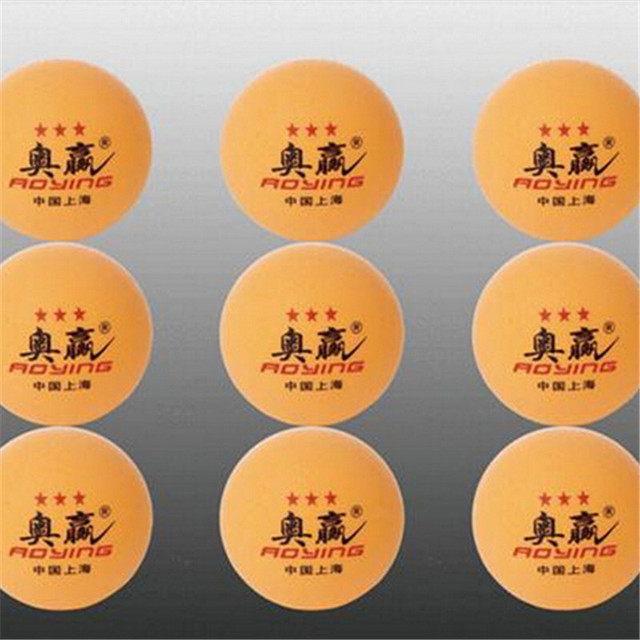 wholesale Free Shipping aoying  50pcs Big 40mm 3 Stars Best Table Tennis Balls Ping Pong Balls Ping-Pong Big Balls