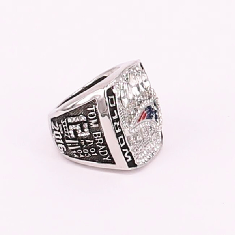US size 7 to 15! 2016 New England Patriots Super Bowl 51 world championship rings replica BRADY engraving inside drop shipping(China (Mainland))