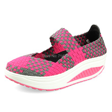 Free shipping in the summer of 2014 the new female shoes Increased leisure sandals model body slimming shoes breathable weave