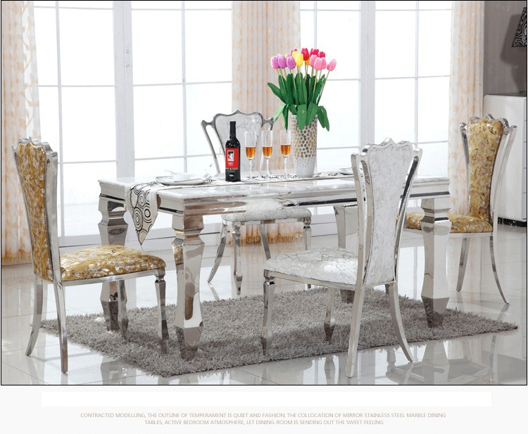Marble Top Dining Table And Chair Dining Room Set Part 71