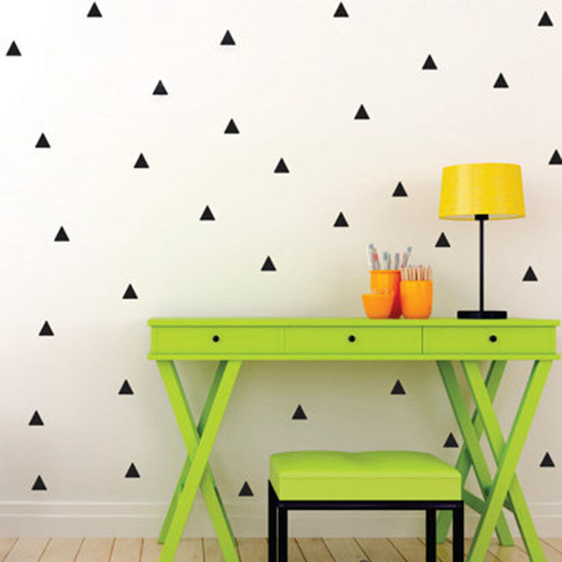 100pcs 5cm Removable triangles pattern Wall Stickers,nursery Geometric mural for Kids Room decor,M2S1