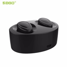 Buy Sago mini earphone TWS k2 Wireless earbuds Bluetooth Stereo Headset Mic Charging Box Dock PK Q29 iphone /android for $17.61 in AliExpress store